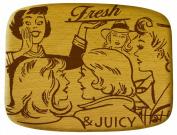 Talisman Designs Get Real Pop Art Beechwood Cheese Board, Fresh and Juicy Design