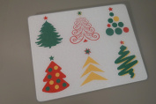15 X 12 Holiday Christmas Trees Tempered Glass Surface Saver Cutting Board