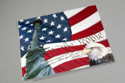 15 X 12 American Flag Tempered Glass Surface Saver Cutting Board
