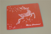 15 X 12 Holiday Reindeer Tempered Glass Surface Saver Cutting Board, Red