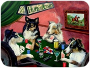 Home of Aussies 4 Dogs Playing Poker Large Tempered Cutting Board 40cm x 30cm x 0.4cm