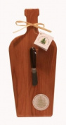 Out of the Woods of Oregon Large Wine Bottle Board with Walnut Spreader