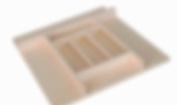 Trimmable Wood Silverware Tray Organiser, 50.8cm x 55.9cm