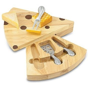 Swiss Cheese Cutting Board and Tools