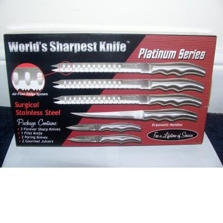 Forever Sharp Platinum Series Surgical Stainless Steel Knife Set