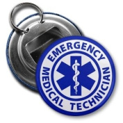 EMT EMERGENCY MEDICAL TECHNICIAN Fire Rescue 5.7cm Button Style Bottle Opener with Key Ring