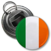 IRELAND World Flag 5.7cm Button Style Bottle Opener with Key Ring