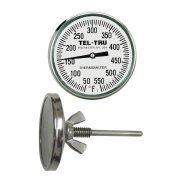 Tel-Tru BQ225 Barbecue Pit Thermometer, 5.1cm dial and 2-1.3cm stem