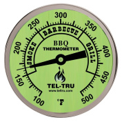 Tel-Tru BQ300 Barbecue Thermometer, 7.6cm glow dial with zones, 10.2cm stem, 100/500 degrees F