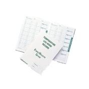 Temperature Log Book - Six month record.