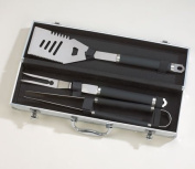 BLACKSTONE 3 PC BBQ SET SS ALUM CASE