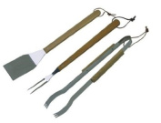 Charbroil 3185321 Deluxe Three-Piece Stainless Steel Barbecue Tool Set
