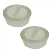30mm Diameter Water Sink Plug Clear Rubber Disposal Stopper 3 Pcs