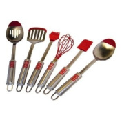 Le Chef Stainless Steel Silicone Tip 6-piece Utensil Set