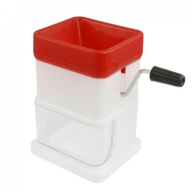 Kitchen Red White Plastic Manual Mashed Vegetable Grater Shredder
