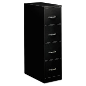 OIF Four-Drawer Economy Vertical File, 15w x 26-1/2d x 52h, Black