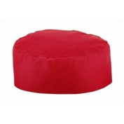 Red Chefs Skull Cap Polycotton. One size fits all.