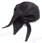 San Jamar H020 Cotton Scarf Hat, Black