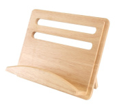 T & G Gift Range Cook Book Stand in Hevea Wood