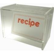 Recipe Box Lid Display 4 x 6 Cards (W/Cards) Acrylic