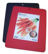 Linden Sweden-Daloplast Bendy Flex Cutting Boards, 11-1/2 by 14-1.3cm , Set of 2, Red/Black