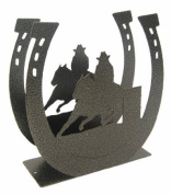 Barrel Race Horseshoe Napkin Holder
