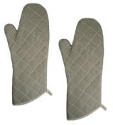 NEW, 38.1cm Flame Resistant Oven Mitts, Flame Retardant Mitts, Oven Mitt, Heat Resistant to 400° F, Set of 2