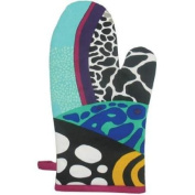 33cm Blue and Black Coral Reef Motif Collectible Kitchen Oven Mitt