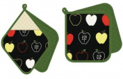 asd Living Potholder Pocket Mitt Set, Bob Design