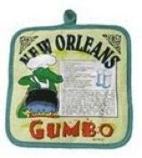 New Orleans Gumbo Recipe Pot Holder