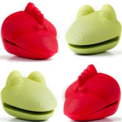 Animal Pot Holders - 2 Red Roosters and 2 Green Frogs