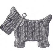 Vintage Crochet PATTERN to make - Pot Holder Scotty Dog Scottie Hot Pad. NOT a finished item. This is a pattern and/or instructions to make the item only.