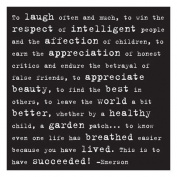 To laugh often - Emerson Black and White Magnet