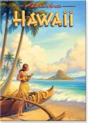 Aloha Hawaii by Kerne Erickson - Hawaiian Art Collectible Refrigerator Magnet