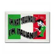 I'm Not Yelling I'm Italian Gals 2 Rectangle Ma Rectangle Magnet by CafePress