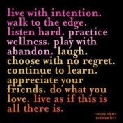 Quotable Live with intention