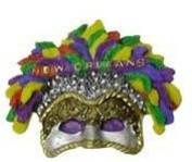 New Orleans Mardi Gras 3D Feather Mask Magnet
