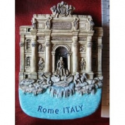 Trevi Water Fountain Rome Italy New Italian Thai Magnet Hand Made Craft