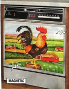 DECORATIVE ROOSTER APPLIANCE MAGNET - LARGE