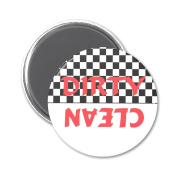 50s Retro Clean Dirty Dishwasher Magnet
