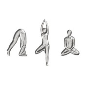 Yoga Poses Pewter Magnets