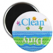 Fish and Ocean Clean Dirty Dishwasher Magnet