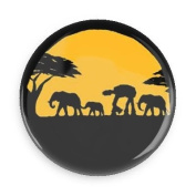 Funny Magnets; Star Wars; Walkers In Africa 3.8cm Refrigerator Magnet Inch Magnet