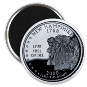 NEW HAMPSHIRE State Quarter Mint Image 5.7cm Fridge Magnet