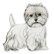 Rescue Me Now Pavilion Gift, West Highland Terrier Magnet, 7.6cm by 7.6cm