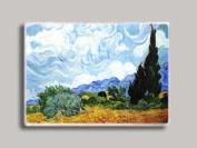 Vincent Van Gogh Wheatfield with Cypress Refrigerator Magnet