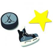 Embellish Your Story Hockey Magnets - Set of 3 Assorted