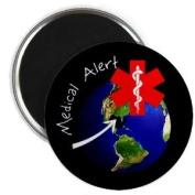 MEDICAL ALERT EARTH DAY bp Oil Spill Relief 5.7cm Fridge Magnet