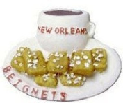 New Orleans Coffee and Beignets 3-D Refigerator Magnet