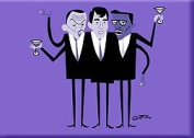 Artist SHAG (Josh Agle) Hipsters Rat Pack Fridge Magnet